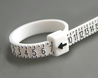 Adjustable Plastic Ring Sizing Tool