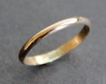14K Gold-Filled Ring - Simple 2mm Band