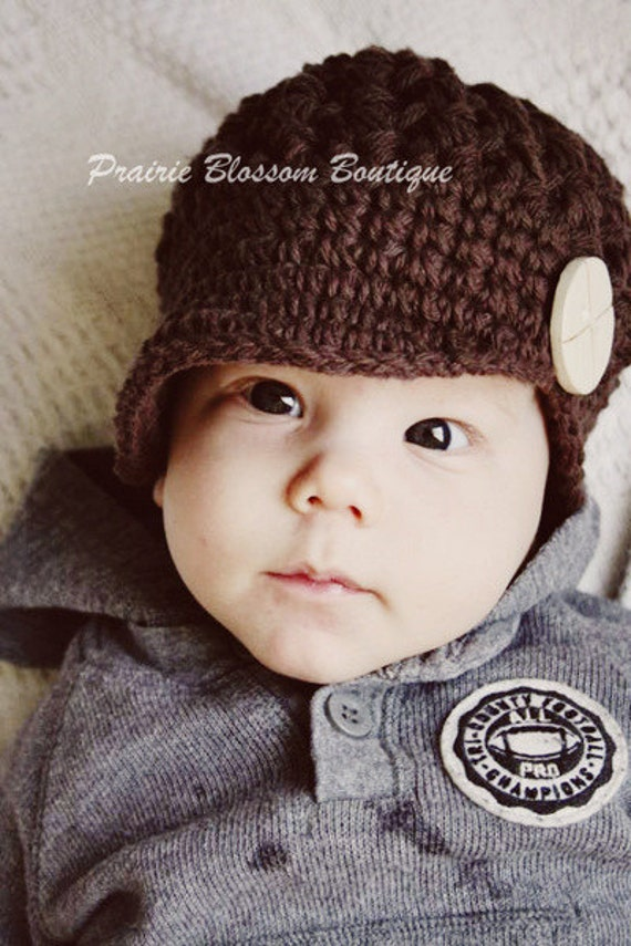 Items similar to Crochet Hats for Boys, Toddler Hat with ...