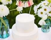 Sherbet Tassel Garland Cake Topper