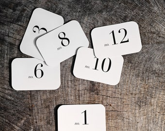 Rectangle Number Place Cards (1-12)