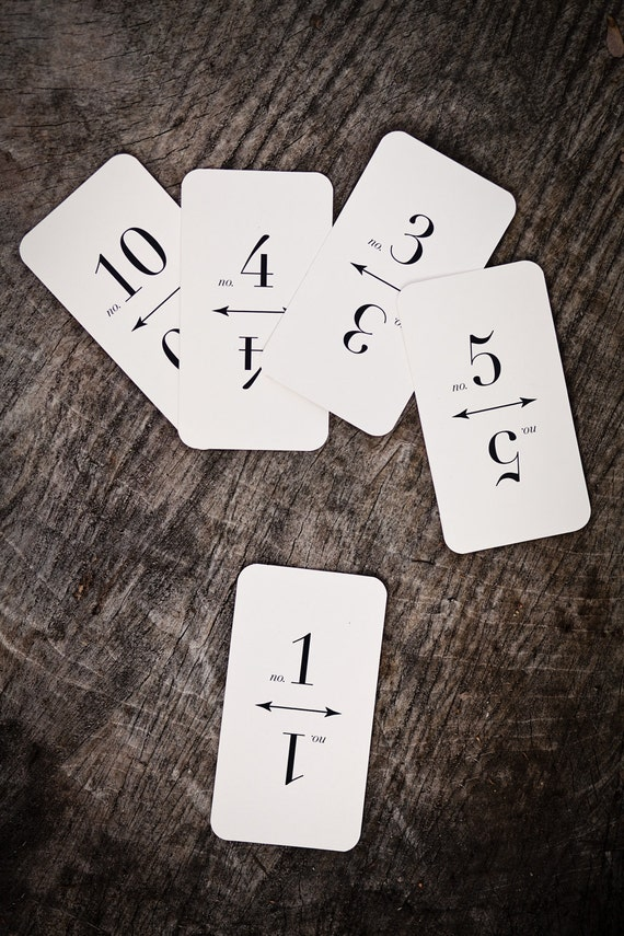 Table Number Cards (1-10)