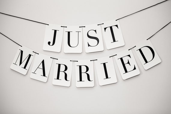 Just Married Banner: Rectangle Double Strand
