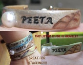 Hunger Games Inspired - Peeta - Hand Painted Bracelet