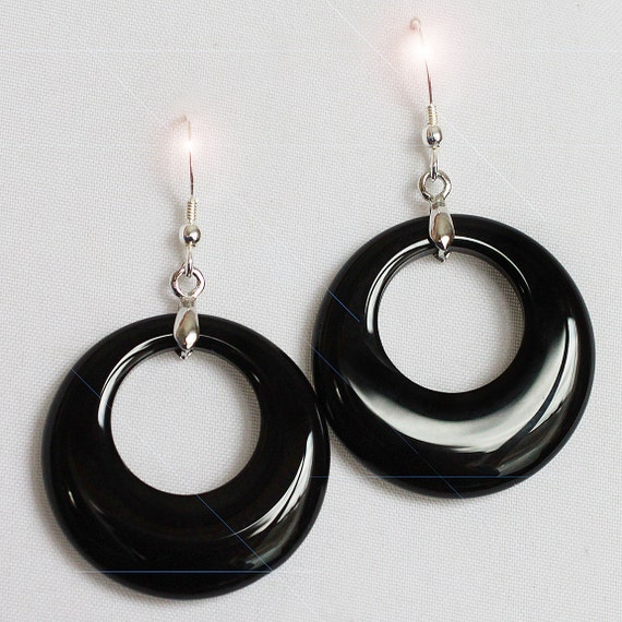 Midnight Dream - Black Onyx and Sterling Silver Earrings