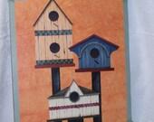 Birdwatcher Tavern Sign, primitive sign, tavern board, bird houses, hand painted, original artwork