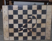 checkerboard, Crow, , , game board, primitive game board, Fall deco, Halloween decor, primitive decoration, wall art, folk art game board