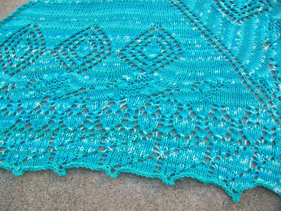 Lucy in the Sky with Diamonds Blue Shawl