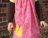 Black Friday Weekend Sale Childs Apron, Pink Rectangles
