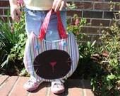 Little Girls Purse, Little Kitty Candy Stripe