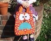 Childs  Purse, Little Girls, Dotted Owl Bag