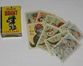 Vintage Children's Card Game Animal Rummy....Mini Cards