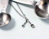 Silver Measuring Spoons Necklace - Measuring Spoon Necklace, Cooking Necklace, Baking Necklace, Chef, Cook, Baker, Foodie, Culinary, Kitchen