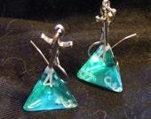 sword-in-stone D4 earrings aqua