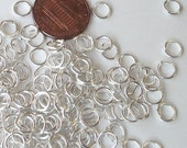 Open Jumprings - Silver Plated Round Jumprings - 6mm / 8mm Nickel Free 1/2.OZ. 19 guage Select the Size - Silver Jewelry Findings