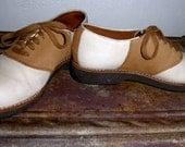 G.H. Bass & Co. Camel and Cream Saddle Shoes -  Unisex