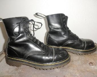 1970's Dr. Marten 1490 8 Eyelet Lace Up Boots - Unisex