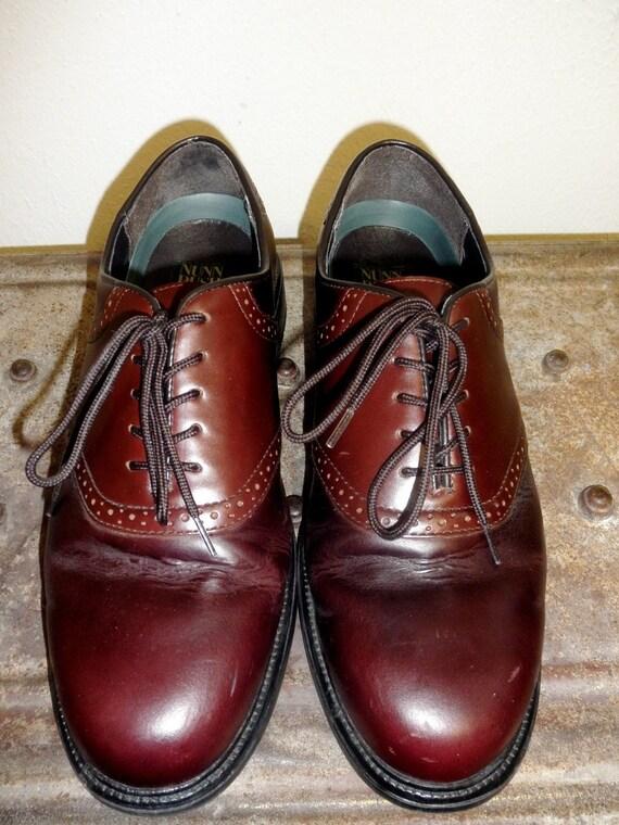 SALE - Men's 2-Tone Brown Nunn Bush Saddle Shoe in Wonderful Condition - Size 12