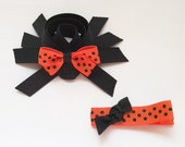 Spider Hair Clip, Halloween Hair Bows, Black Spider Hair Clip, Orange and Black Spider Hair Clip Set, Holiday Hair Clip, Toddler Hair Clip