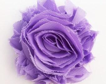 Flower Hair Clip, Lavender Shabby Flower Hair Clip, Shabby Chic Accessories, Girls Hair Bows, Purple Flower Hair Clip, Hair Bows