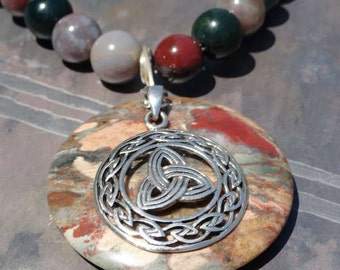 Trinity Knot Irish Pendant Sterling Silver Handcrafted Necklace