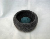 Small Felted Bowl - Heather Grey