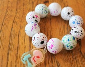 Jawbreaker Acrylic Candy Chunky Skull Charm Stretch Bracelet
