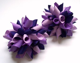 Mini Purple Passion Korker Hair Bows