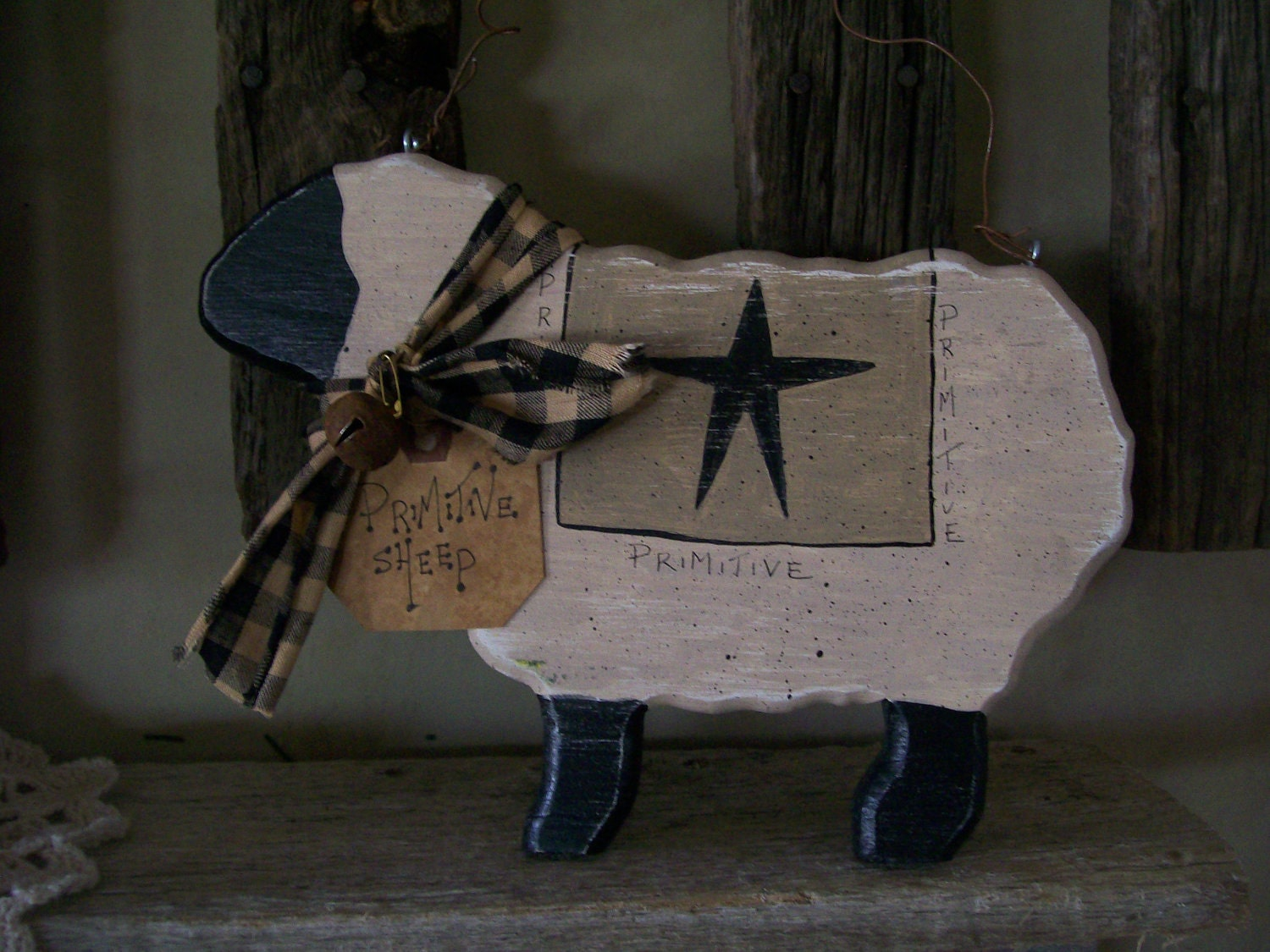Primitive wooden sheep by primcountrycreations on etsy for Wood decoration patterns