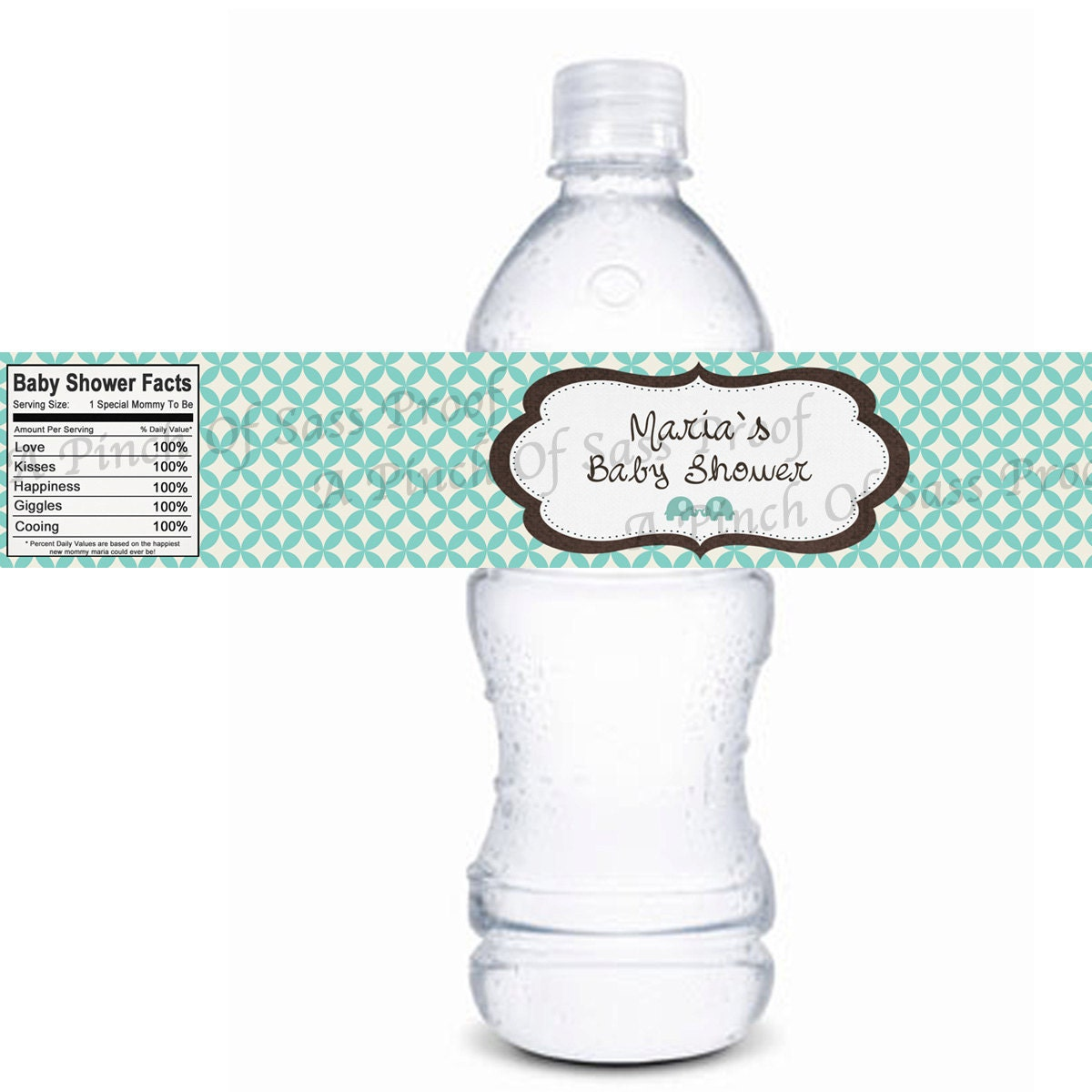 Diy personalized coco jungle animal by for Mineral water label template