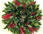 Organic Bay Chili Wreath