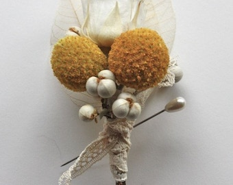 Milk and Honey Corsage