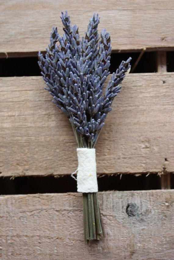 8 Organic Lavender Boutonnieres - Special listing for Lauren