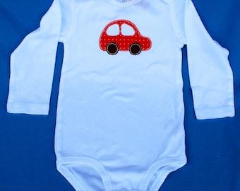 Red car onesie, 9 months