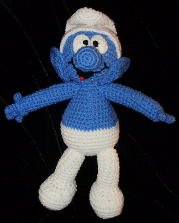 A Smurf Crochet Pattern by Erin Scull by ErinScullsToyStore