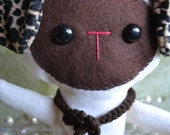 Mocha -- Puppy Plushie Stuffed Animal -- Child Friendly Original Design by Wee Caboodles Wee007