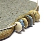 "Beach Stones Sea Slag Glass Pebbles Jewelry- Lake Michigan Bluestones Seaglass River Rocks-""Seven"" by Allybeans"