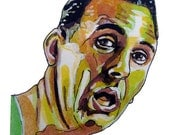Boston Celtics Legend Bob Cousy Painting Reproduction Print 11 x 8.5