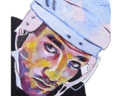Boston Bruins Patrice Bergeron Painting Reproduction Print 11 x 8.5
