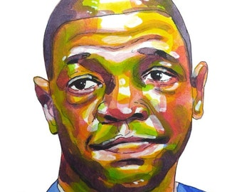 Coach Doc Rivers Painting Reproduction Print 11 x 8.5 - Basketball coach