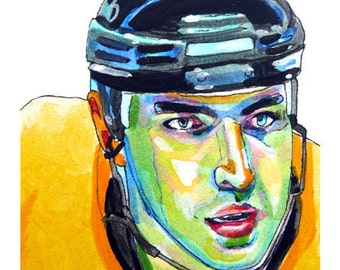 Boston Bruins Zdeno Chara Painting Reproduction Print 11 x 8.5