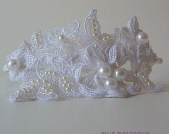 Bridal Headband,Wedding Headband, Bridal Hairband, White Pearl Headband,Wedding Headpiece,Flower Girl,