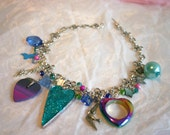 Swarovski & Semi Precious Gem Mixed Media Choker Necklace - The Blue Valentine