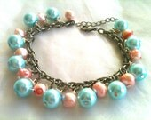 Freshwater and Glass Pearl Bracelet, pretty pastels - Sherbet Pip
