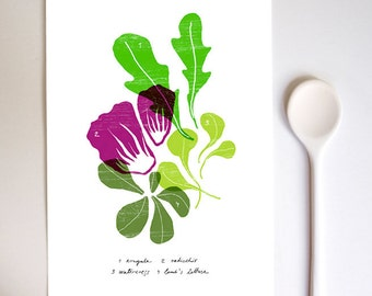 SALAD - Kitchen Art Print / Food Art / high quality fine art print