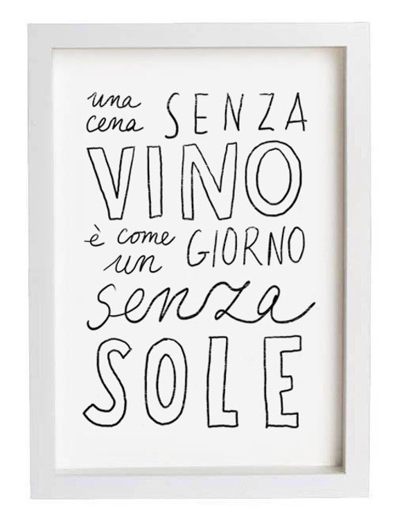 Typography Print VINO - high quality fine art print