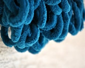 Long Teal Scarf - Cozy Soft Curly Scarf