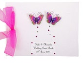 Personalised Vibrant Butterfly Wedding Guest Book