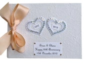 Custom Hearts 35th Anniversary Guest Book