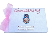 Personalised Russian Doll Christening Guest Book